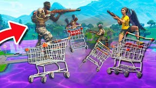 LOOT LAKE + SHOPPING CARTS = THIS! | Fortnite Battle Royale