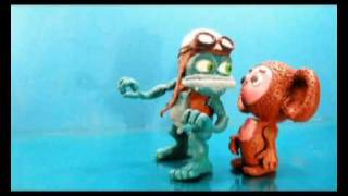 Ceburashka vs. Frog (Clay Crazy Frog)