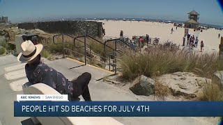 Crowds hit San Diego beaches for July 4th