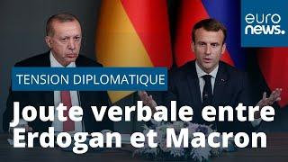 """Le Président Erdogan accuse Emmanuel Macron d'être """"en état de mort cérébrale"""""""