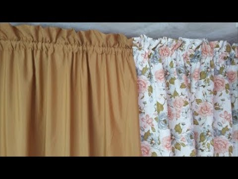 Como fazer cortina duas cores