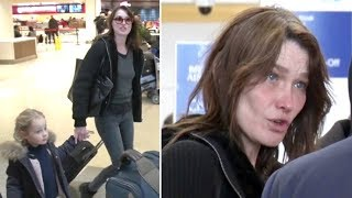 Former First Lady Carla Bruni Sarkozy Is Striking With No Makeup At Lax