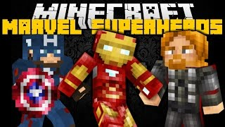 Minecraft: MARVEL UNIVERSE SUPERHERO MOD (Captain America, Iron Man, Thor) Mod Showcase