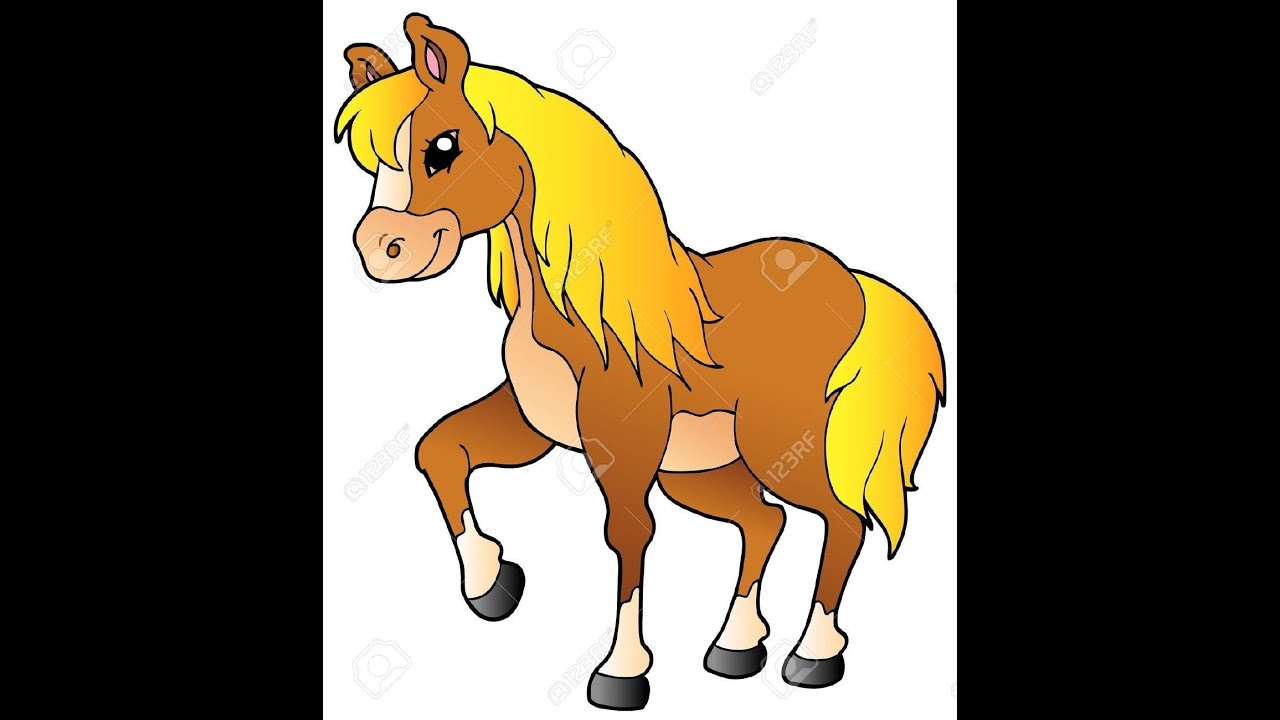 the cartoon horse coloring 3d picture by color pencils animated rh youtube com cartoon horse pictures cartoon horse pictures free download