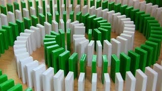 INSANE Domino Tricks! (Hevesh5 & MillionenDollarBoy)(Click to share on Facebook! ▻ http://bit.ly/INSANEDOMINO Click to tweet! ▻ http://ClickToTweet.com/DudeL Millionendollarboy and I spent over 3 months ..., 2013-11-10T16:00:01.000Z)