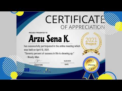 Students' Certificates of Participation