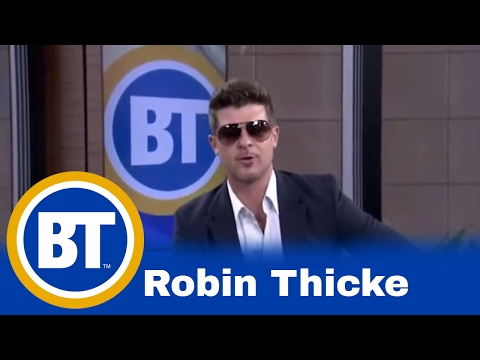 Robin Thicke stops by Breakfast Television!