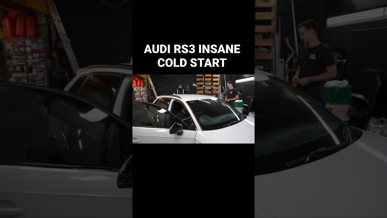 AUDI RS3 Insane Cold Start Sound #shorts