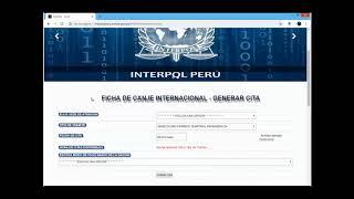 INGRESO AL SISTEMA INTERPOL PERU PARA CITA DE FICHA DE CANJE INTERNACIONAL, ACTUALIZACION SEPT. 2018