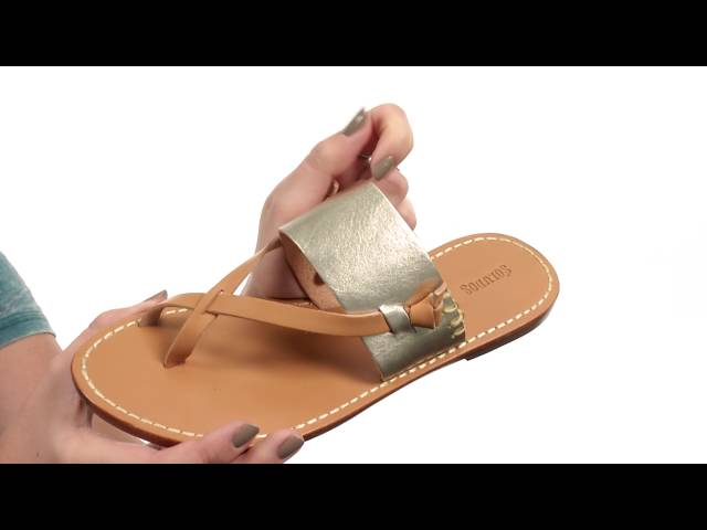 79550a38d92e Soludos Slotted Thong Sandal at Zappos.com