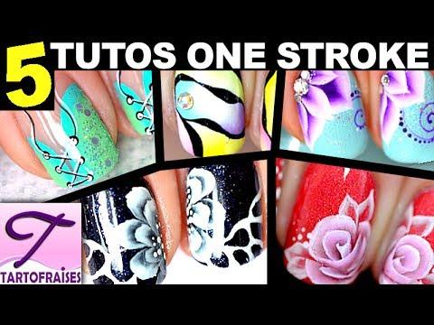 Ongles Courts 5 Tutos One Stroke Peinture Tous Niveaux Youtube
