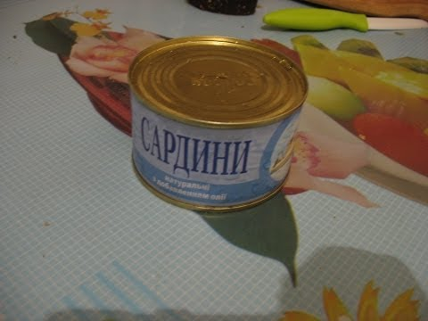 Суп с сардиной в масле