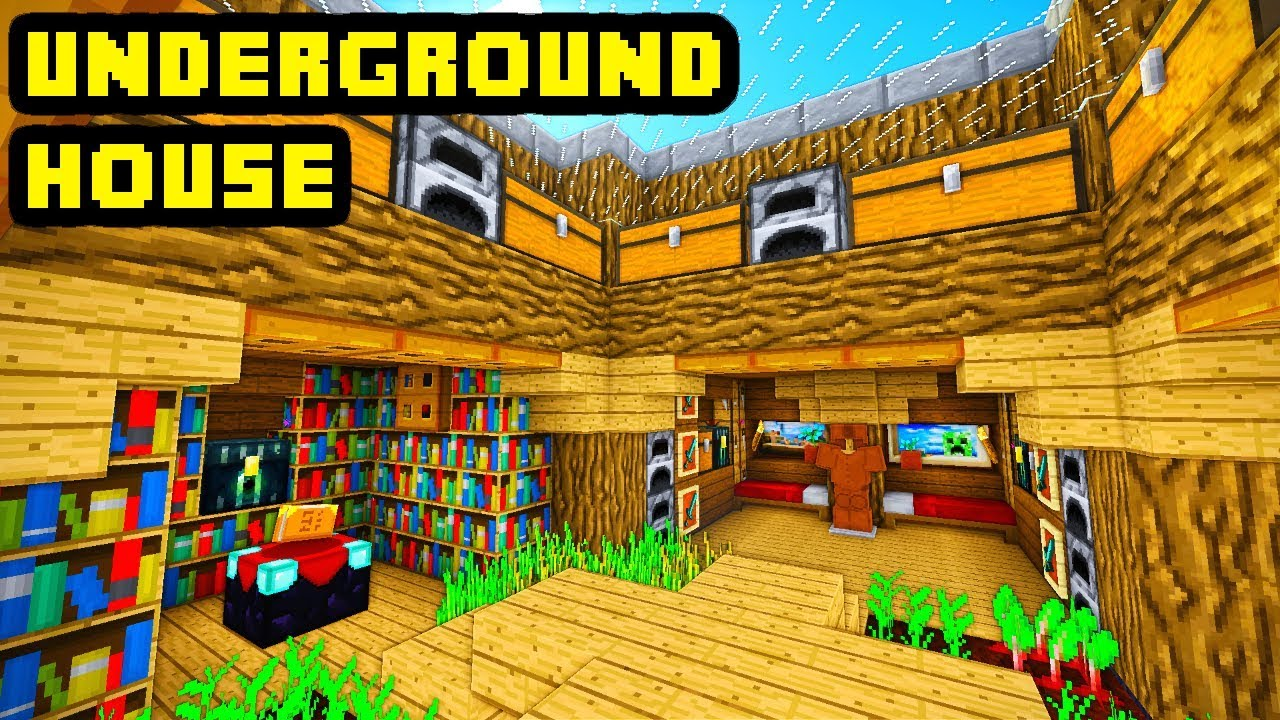 Minecraft Big Underground House Tutorial How To Build Ideas Youtube