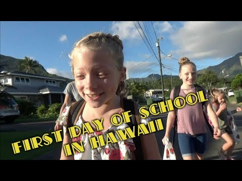 First Day of School in Kailua Hawaii