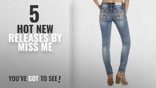 Hot New Miss Me Women Clothing [2018]: Miss Me Extended Sizes Glam Show Fluer De Lis Medium Wash
