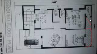 26x46 feet GROUND FLOOR HOUSE PLAN