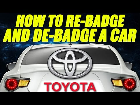 How to Re-badge and De-badge a Car [Scion FRS] [The FRS Project]