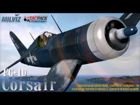 MILVIZ FG-1D Corsair - First Flight P3D v4    I should have looked at the  manual first