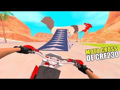 GTA SAN : VIDA REAL | FAZENDO MOTOCROSS DE CRF230