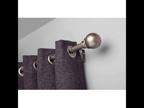 Better Homes and Gardens Curtain Rod Set, Pewter, 1 rod diameter