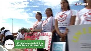 Desfile cívico deportivo comenmorativo del 109 aniversario del inicio de la Revolución Mexicana