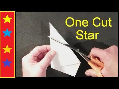 make a perfect star with one cut youtube