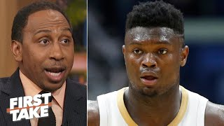 Zion's knee surgery isn't a big deal for the NBA - Stephen A. | First Take
