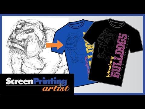 CorelDRAW tutorial making a school mascot shirt design