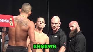 Nate Diaz vs Anthony Pettis Weigh In And Faceoff EsNews Boxing