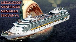 hiu terbesar di dunia megalodon mengamuk