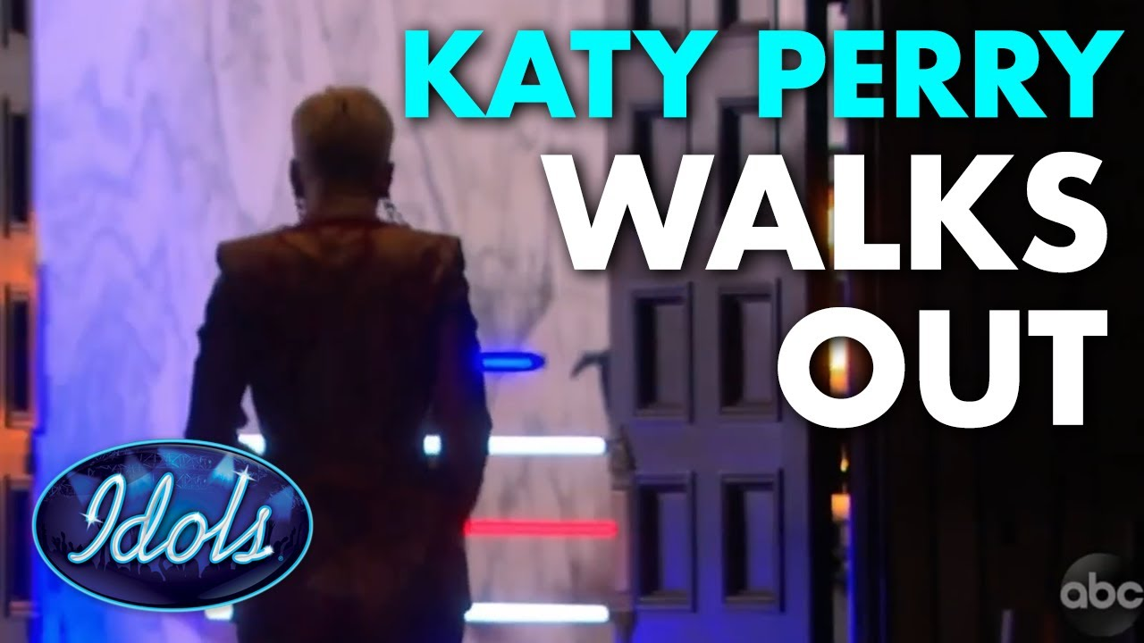KATY PERRY WALKS OUT | Idols global