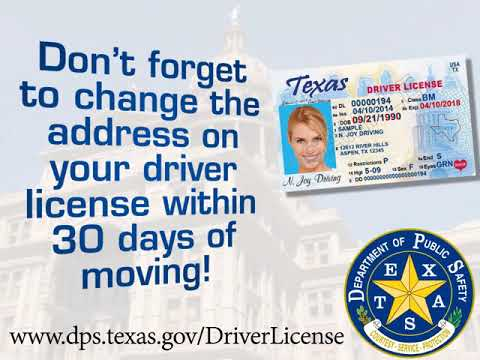 change texas drivers license address