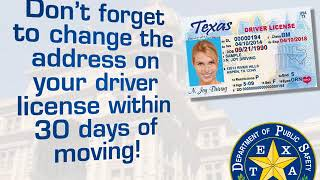 Texas Driver License Office Address Change Requirement Youtube
