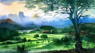 Watercolor Painting | What to do when not satisfied with the finished painting