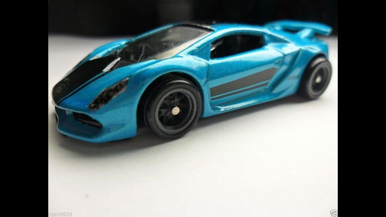 Hot Wheels 2016 Upcoming Lamborghini Sesto Elemento Blue