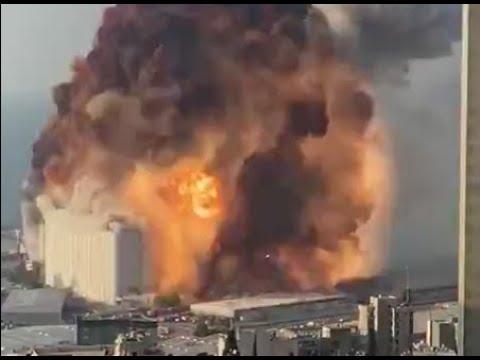 IMPRESIONANTE EXPLOSIÓN en Beirut, Líbano, registrada el 4 de agosto del 2020