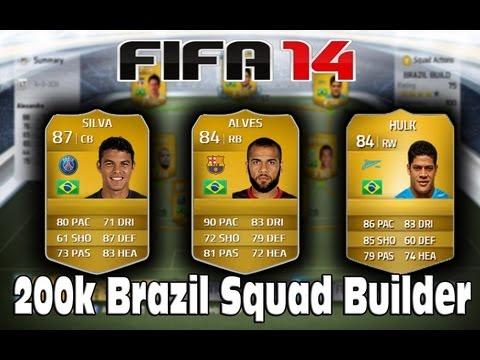 FIFA 14 - 200K Brazil Squad Builder Ft. Thiago Silva, Dani Alves & Hulk