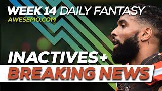 NFL DFS Picks Live Before Lock - Week 14 Inactives & Breaking News