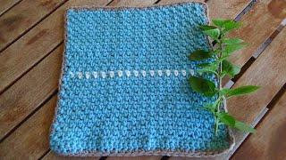 Πανεύκολο σχέδιο για κουβερτουλα με βελονάκι!  για αριστερόχειρες!