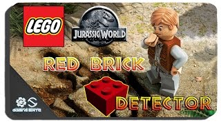 Lego Jurassic World - Red Brick #8 Red Brick Detector Location