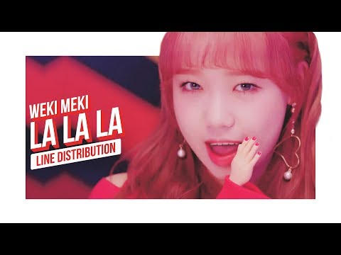 Weki Meki - La La La Line Distribution (Color Coded)   위키미키 - 라라라
