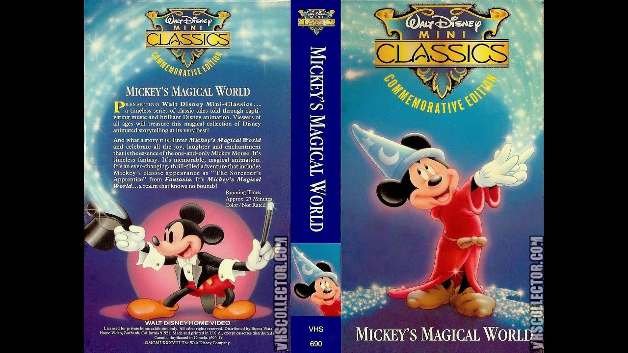 Opening and closing to mickey 39 s magical world 1988 vhs for Classic house 1988