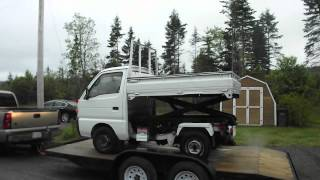 Check it out!! Suzuki 4X4 Japanese Mini Truck with Scissor Lift & Dump Box