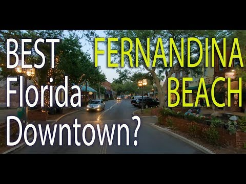 Downtown Fernandina Beach on Amelia Island in Florida! A Driving Tour at Sunset!