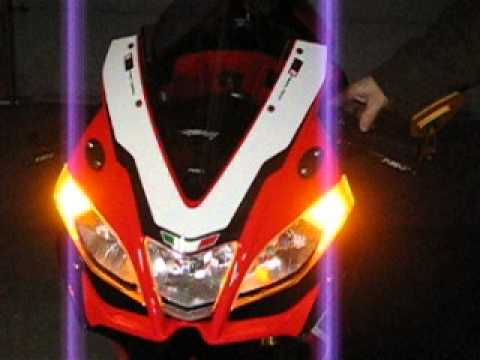 Aprilia Rsv4 Front Blinkers And Running Lights To Led