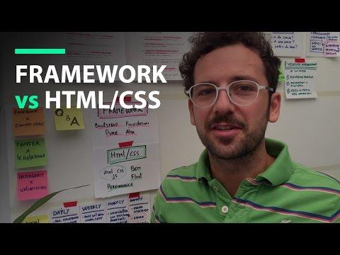 Ecco Perchè Nei Tutorial Non Uso Framework Ma Html/CSS Puro.
