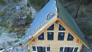 WE'RE HALFWAY FINISHED! (Standing Seam Roof Install)