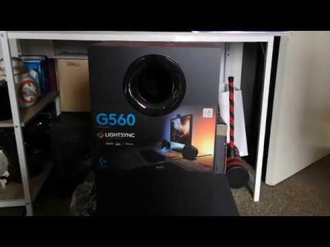 Logitech G560 PC Speakers Unboxing