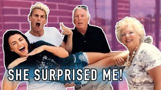 GIRLFRIEND SURPRISES & MEETS MY ENTIRE FAMILY!! **awkward**