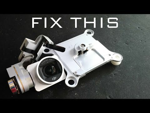 How to Repair a Broken DJI Phantom 3 Pro or Adv Camera and Gimbal